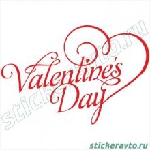 Наклейка на авто и для интерьера - День Святого Валентина