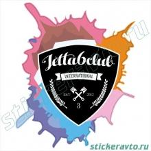Наклейка на авто - Jetta 6 club 3 года