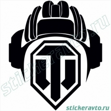 Наклейка на авто - World of Tanks Шлем