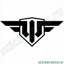 Наклейка на авто - World of Warplanes