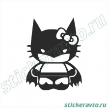 Наклейки на авто - Bat Kitty