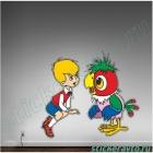 Малыш и попугай
