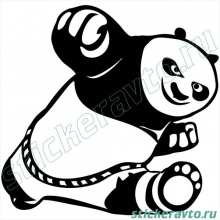 Наклейка на авто - Kung Fu Panda (Кунг Фу Панда)