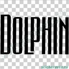 Наклейка на авто - Dolphin (Дельфин)