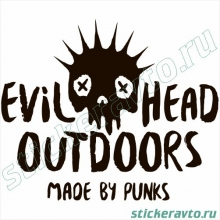 Наклейка на авто - Evil Head Outdoors