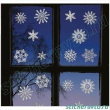 Новогодний набор снежинок