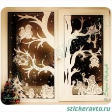 Новогоднее настроение на окнах