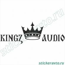 Наклейка на авто - Kings Audio