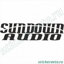 Наклейка на авто - Sundown Audio