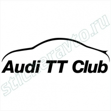 Наклейка - Audi TT club