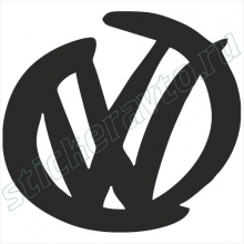 Наклейка на авто - Volkswagen