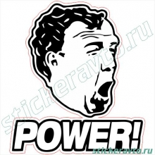 Наклейка на авто - Top gear Power