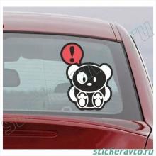Наклейка на авто - Bear