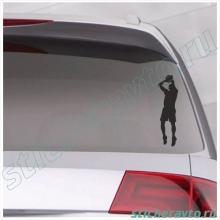 Наклейка на авто - Basketball player
