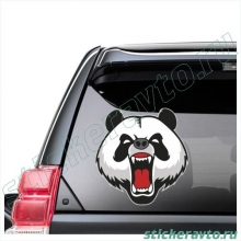 Наклейка на авто - Angry panda