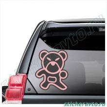 Наклейка на авто - Angry bear